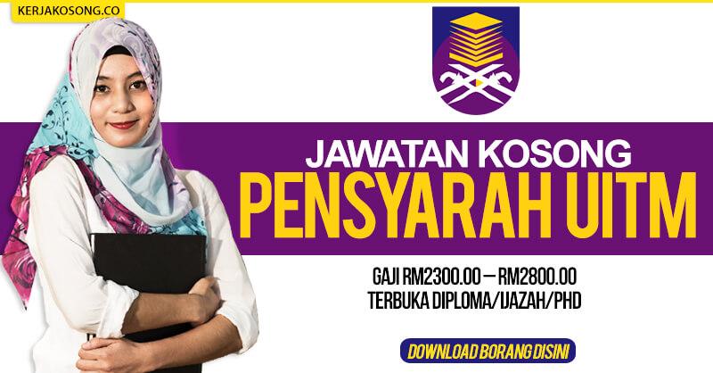 Post image for Jawatan Kosong Universiti Teknologi Mara (UiTM) Kelantan 2020