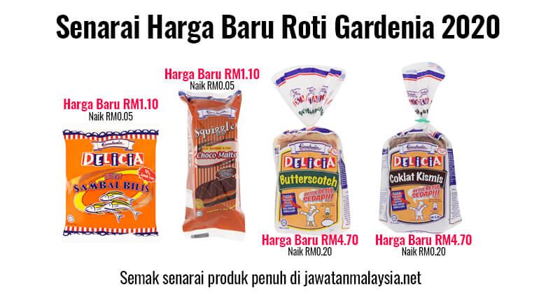 Post image for Senarai Harga Baru Roti Gardenia 2020